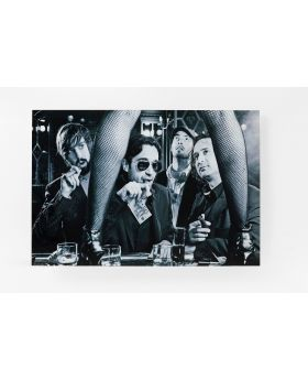 PICTURE GLASS STRIP CLUB 80X120CM,BLACK