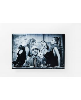 PICTURE GLASS MACHO MAN 100X150CM,BLACK