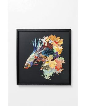 PICTURE FRAME ART BETTA FISH COLORE LEFT