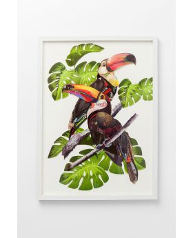 Picture Frame Art Paradise Bird Couple