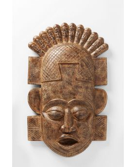 WALL DECORATION AFRICAN MASK 90CM,BROWN