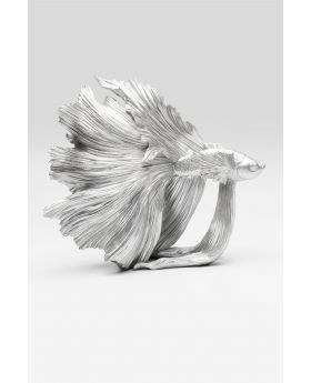 DECO OBJECT BETTA FISH SILVER SMALL