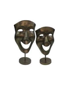 S/2 Mask Ass. 'Venise' Ant.Bronzeonstand