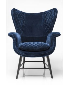 Arm chair Tudor VelvetBlue