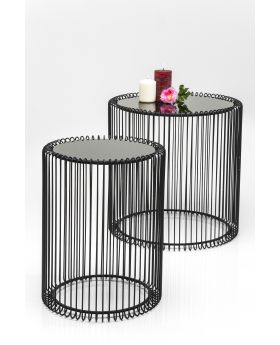 SIDE TABLE WIRE (2/SET) BLACK
