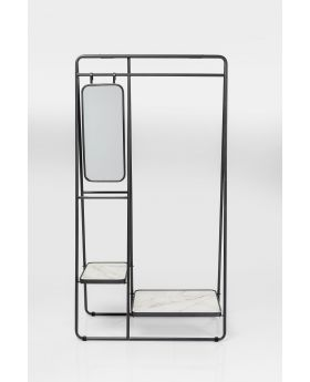 CLOTHING RACK MIRROR,BLACK