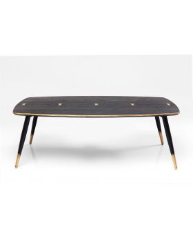 COFFEE TABLE ART DECO 80X40CM,BLACK