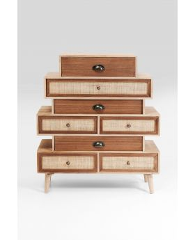 DRESSER SAMOS STEPS 8 DRW 80CM,BROWN