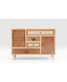 DRESSER SAMOS 4 DRW 2 DOORS 90CM,BROWN