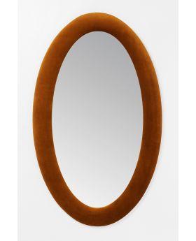 Mirror Velvet Brown Oval 150X90Cm,Brown