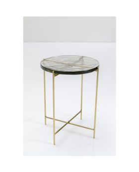 Side Table Ice Glass Dia40Cm