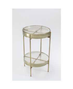 Side Table Ice Double Glass Dia30Cm