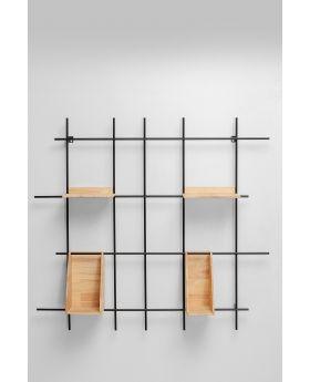 Wall Shelf Copenhagen 105Cm,Black