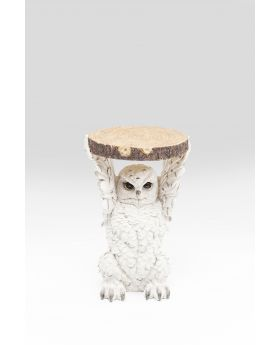 Side Table Animal Owl 35Cmwhite
