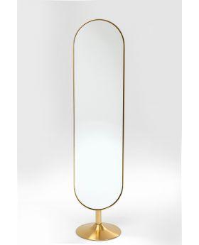 Floor Mirror Curve 170X40 Cm,Golden