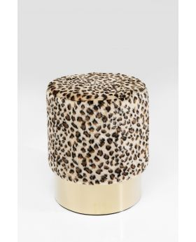 Stool Cherry Leo Brass 35Cmbeige