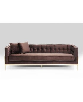SOFA LOFT BROWN 3-SEATER