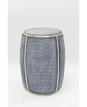 Side Table Croco Grey 46Cm