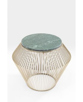 SIDE TABLE BEAM GREEN MARBLE 40CM
