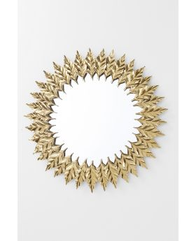 MIRROR LEAVES GOLD 76CM
