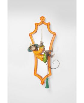 MIRROR MONKEY ORANGE 53x21CM