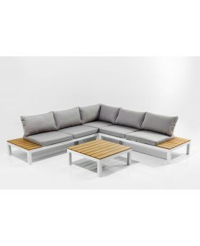 OUTDOOR SOFA SET HOLIDAY WHITE (4PIECES)
