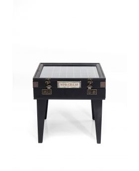 SIDE TABLE COLLECTOR BLACK 55X55CM