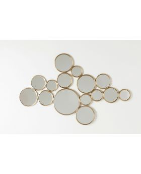 Mirror Bubbles Brass 93X138Cm