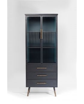 CABINET LAGOMERA 2 DOORS 3 DRAWERS,BLACK