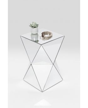 SIDE TABLE LUXURY TRIANGLE GLASS