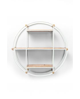 Wall Shelf Jungle Bamboo White Dia60Cm