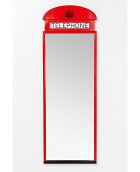 MIRROR LONDON TELEPHONE 167X56CM,RED