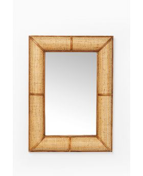 Mirror Bamboo 90X65Cm,Brown
