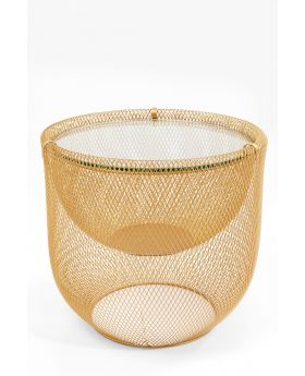 COFFEE TABLE GRID GOLD O/50CM
