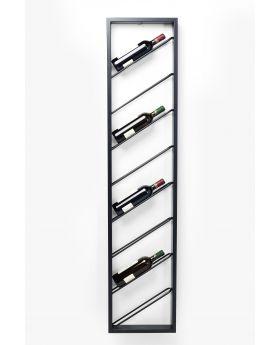 Wall Wine Shelf Bistro Uno 160Cm,Black