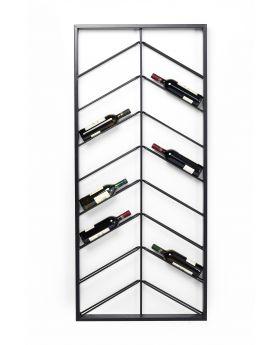 Wall Wineshelf Bistro Double 160Cm,Black