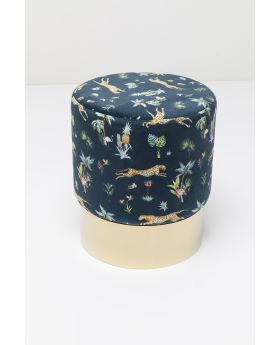 STOOL CHERRY JUNGLE LEOPARD GOLD o35CM