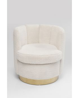 ARM CHAIR SILHOUETTE FUR WHITE,FAB