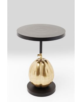 SIDE TABLE PUMPKIN  O-58CM,BLACK/GOLD