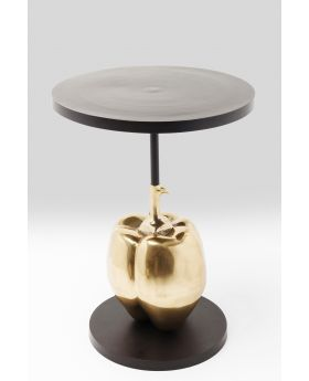 Cafe Table Pumpkin O-76Cm,Black/Gold
