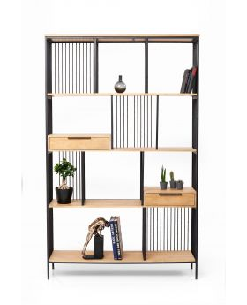 SHELF MODENA SOLID WOOD/METAL