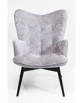 VICKY ARM CHAIR WILSON SILVER , FAB