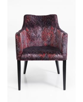 Chair With Armrest Black Mode Fancy Red