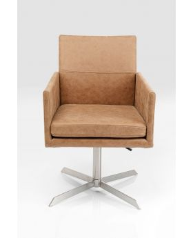Swivel Arm Chair New York Beige,Brown