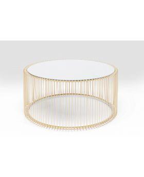 Coffee Table Wire Uno Brass Dia80Cm,