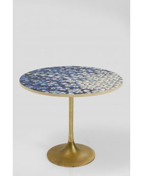 FASCINO DINING TABLE  DIA75CM,BRASS LEG