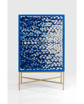 Bar Cabinet Fascino,Blue/Chrome