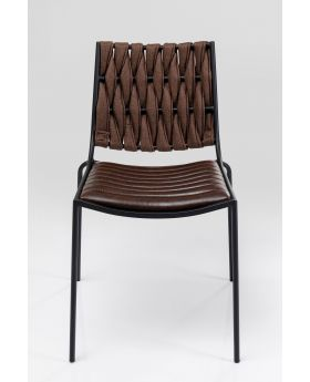 TWO FACE DINING CHAIR  DARK BROWN
