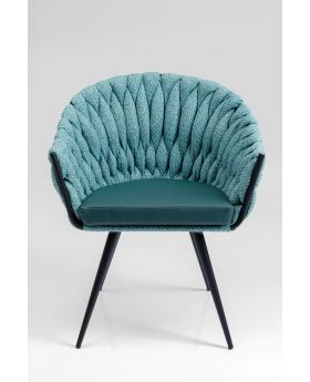 Knot Diningchair With Arm Bluegreen,Fab