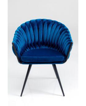 Knot Diningchair With Armrest Blue,Fab